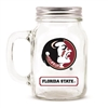 Florida State Seminoles NCAA Mason Jar Glass With Lid