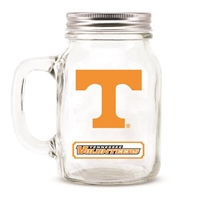 Tennessee Volunteers NCAA Mason Jar Glass With Lid