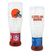 Cleveland Browns NFL Crystal Pilsner Glass