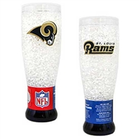 St. Louis Rams NFL Crystal Pilsner Glass