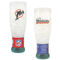 Miami Dolphins NFL Crystal Pilsner Glass