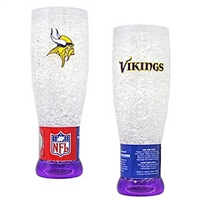 Minnesota Vikings NFL Crystal Pilsner Glass