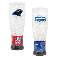 Carolina Panthers NFL Crystal Pilsner Glass