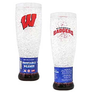 Wisconsin Badgers NCAA Crystal Pilsner Glass
