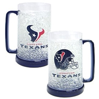 Houston Texans NFL Crystal Freezer Mug
