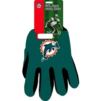 Miami Dolphins NFL Two Tone Gloves