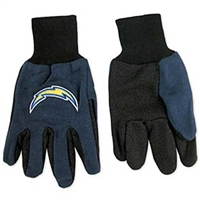 San Diego Chargers NFL Two Tone Gloves