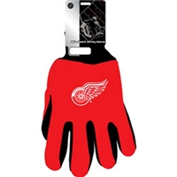Detroit Red Wings NHL Two Tone Gloves