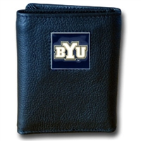 BYU Cougars Leather Tri-fold Wallet