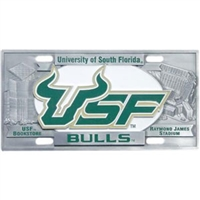 South Florida Bulls 3D License Plate
