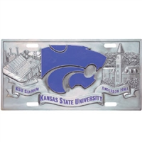Kansas State Wildcats 3D License Plate