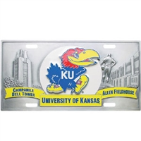 Kansas Jayhawks 3D License Plate