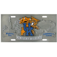 Kentucky Wildcats - 3D License Plate