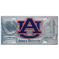 Auburn Tigers - 3D License Plate