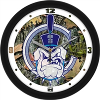 "Citadel Bulldogs 12"" Wall Clock - Camo"