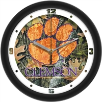 "Clemson Tigers 12"" Wall Clock - Camo"