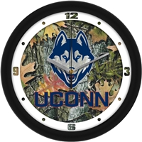 "Connecticut Huskies UCONN 12"" Wall Clock - Camo"