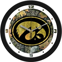 "Iowa Hawkeyes 12"" Wall Clock - Camo"