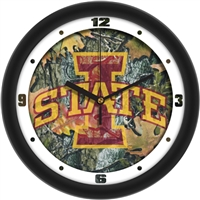 "Iowa State Cyclones 12"" Wall Clock - Camo"