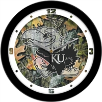 "Kansas Jayhawks 12"" Wall Clock - Camo"