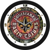 "Louisiana Lafayette Ragin' Cajuns 12"" Wall Clock - Camo"