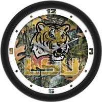 "Louisiana State Tigers LSU 12"" Wall Clock - Camo"