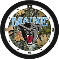 "Maine Black Bears 12"" Wall Clock - Camo"