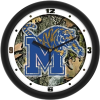 "Memphis Tigers 12"" Wall Clock - Camo"