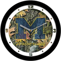 "Michigan Wolverines 12"" Wall Clock - Camo"