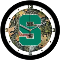 "Michigan State Spartans 12"" Wall Clock - Camo"