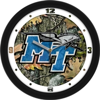 "Middle Tennessee State (MTSU) Blue Raiders 12"" Wall Clock - Camo"