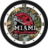 "Miami University Ohio Redhawks 12"" Wall Clock - Camo"