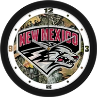 "New Mexico Lobos 12"" Wall Clock - Camo"