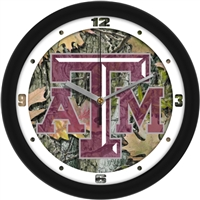 "Texas A&M Aggies 12"" Wall Clock - Camo"