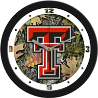 "Texas Tech Red Raiders 12"" Wall Clock - Camo"