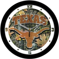 "Texas Longhorns 12"" Wall Clock - Camo"
