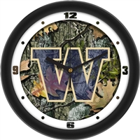 "Washington Huskies 12"" Wall Clock - Camo"