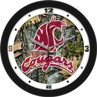 "Washington State Cougars 12"" Wall Clock - Camo"