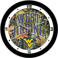 "West Virginia Mountaineers 12"" Wall Clock - Camo"