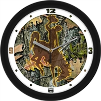"Wyoming Cowboys 12"" Wall Clock - Camo"