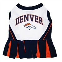 Denver Broncos NFL Dog Cheerleader Outfit - Medium