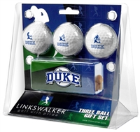Duke Blue Devils Slider Hat Clip 3 Ball Gift Pack