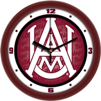 "Alabama A&M Bulldogs 12"" Wall Clock - Dimension"
