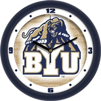 "Brigham Young (BYU) Cougars 12"" Wall Clock - Dimension"