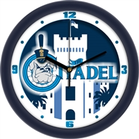 "Citadel Bulldogs 12"" Wall Clock - Dimension"