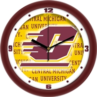 "Central Michigan Chippewas 12"" Wall Clock - Dimension"