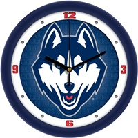 "Connecticut Huskies UCONN 12"" Wall Clock - Dimension"