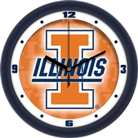 "Illinois Fighting Illini 12"" Wall Clock - Dimension"