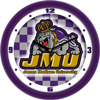 "James Madison Dukes 12"" Wall Clock - Dimension"
