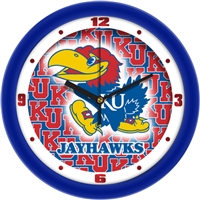 "Kansas Jayhawks 12"" Wall Clock - Dimension"